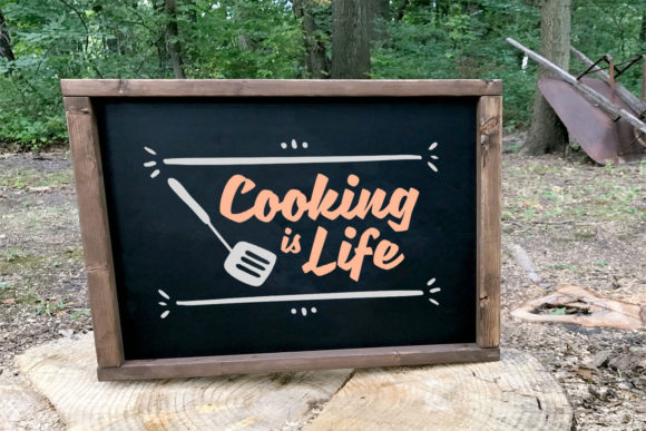 Print on Demand: Cooking is Life Graphic Crafts By summersSVG