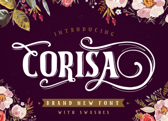 Print on Demand: Corisa Display Font By BlackCatsMedia - Image 1