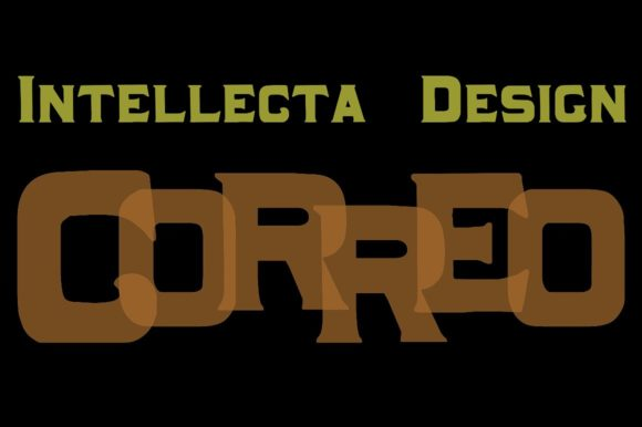 Print on Demand: Correo Display Font By Intellecta Design