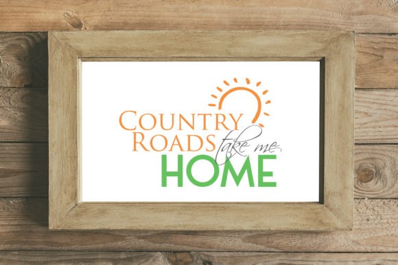 Print on Demand: Country Roads Take Me Home Graphic Crafts By summersSVG - Image 1