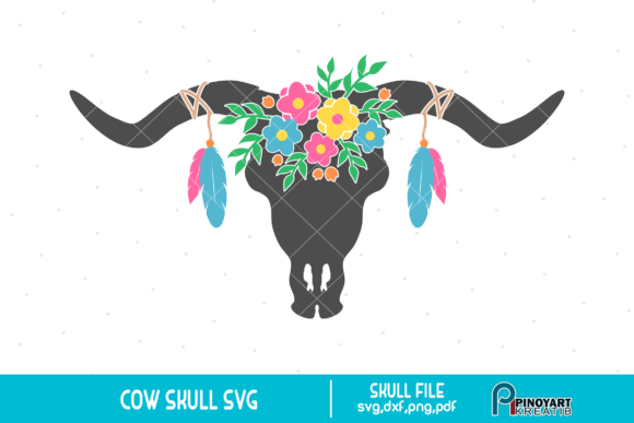 Download Free Cow Skull Graphic By Pinoyartkreatib Creative Fabrica for Cricut Explore, Silhouette and other cutting machines.