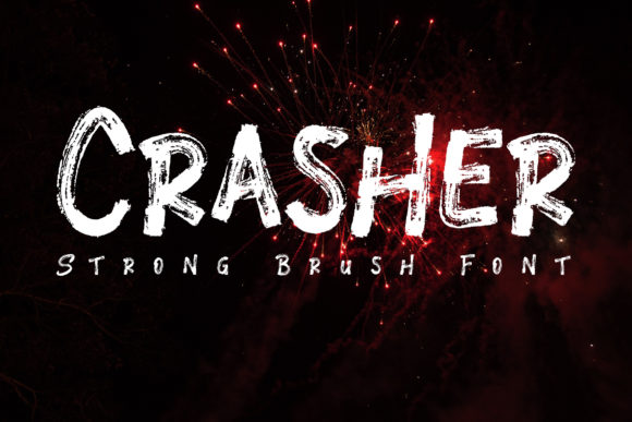 Print on Demand: Crasher Display Font By Bluestudio - Image 1