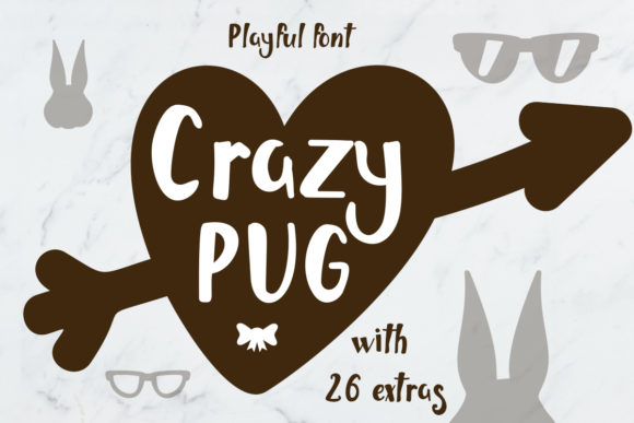 Print on Demand: Crazy Pug Script & Handwritten Font By Illustrator Guru