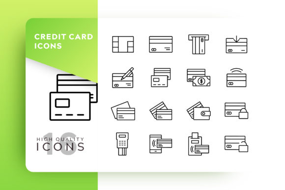 Credit Card Icon Pack Graphic By Goodware.Std