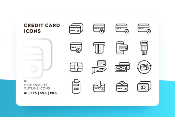 Print on Demand: Credit Card Icon Pack Graphic Icons By Goodware.Std