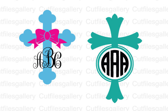 Download Free Cross Monogram Graphic By Cutfilesgallery Creative Fabrica for Cricut Explore, Silhouette and other cutting machines.