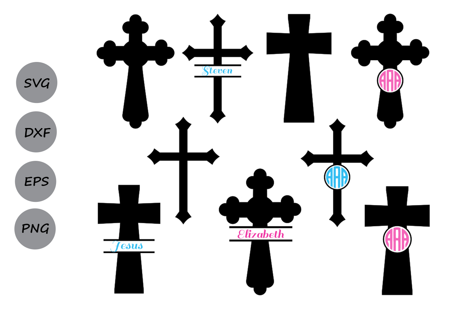 Download Free Cross Monogram Graphic By Cosmosfineart Creative Fabrica for Cricut Explore, Silhouette and other cutting machines.
