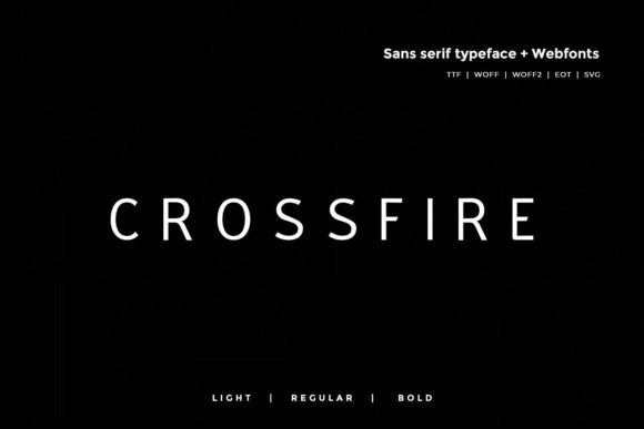 Print on Demand: Crossfire Sans Serif Font By Webhance