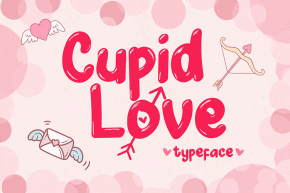 Print on Demand: Cupid Love Display Font By Sharon ( DmStudio )