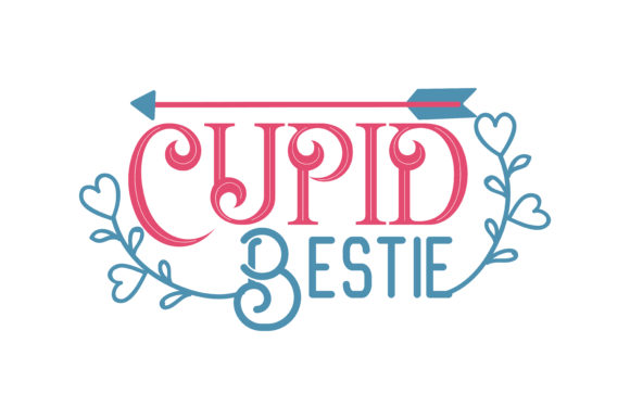 Download Free Cupid Bestie Quote Svg Cut Graphic By Thelucky Creative Fabrica for Cricut Explore, Silhouette and other cutting machines.