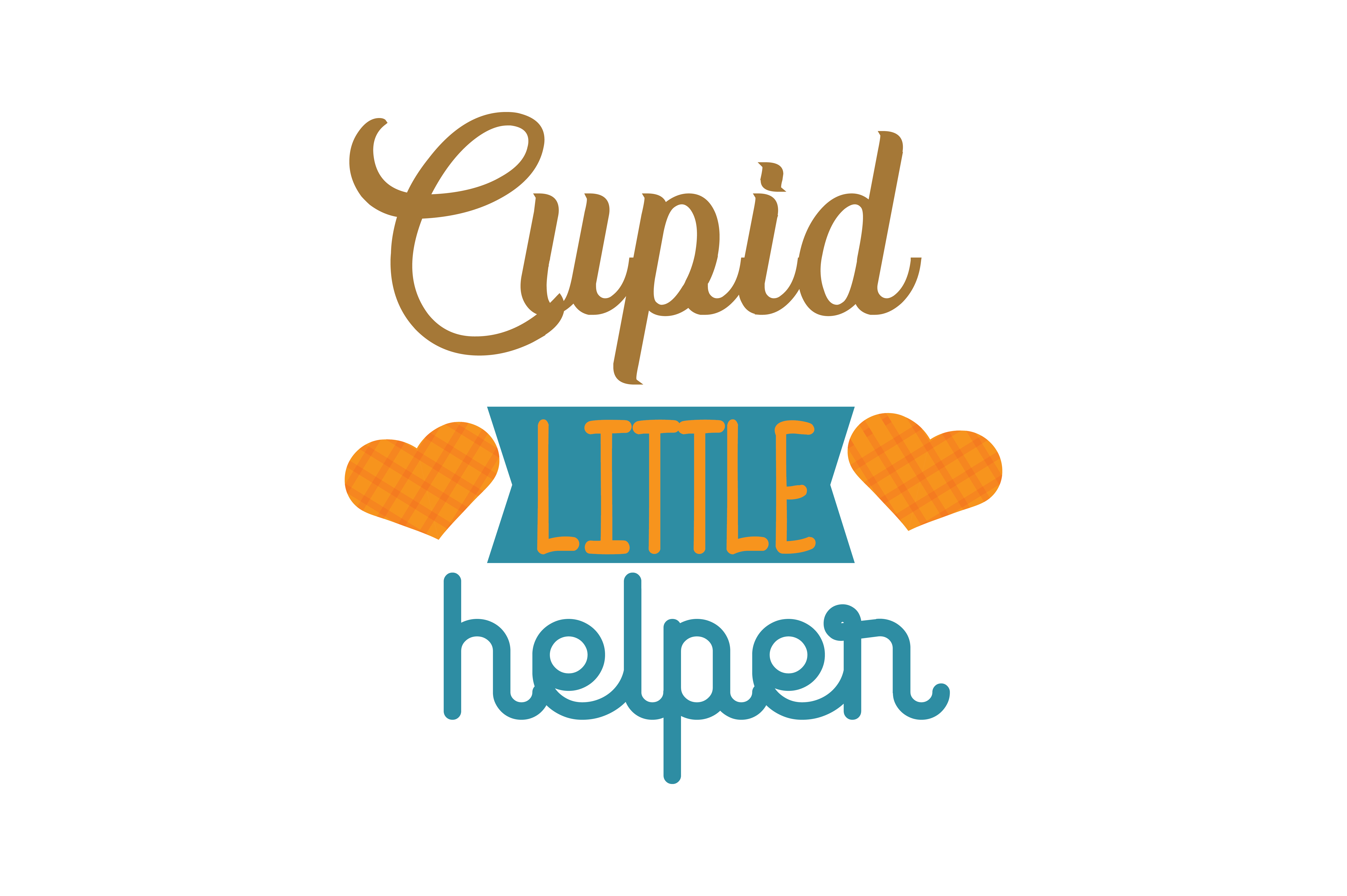 Download Free Cupid Little Helper Quote Svg Cut Graphic By Thelucky Creative for Cricut Explore, Silhouette and other cutting machines.