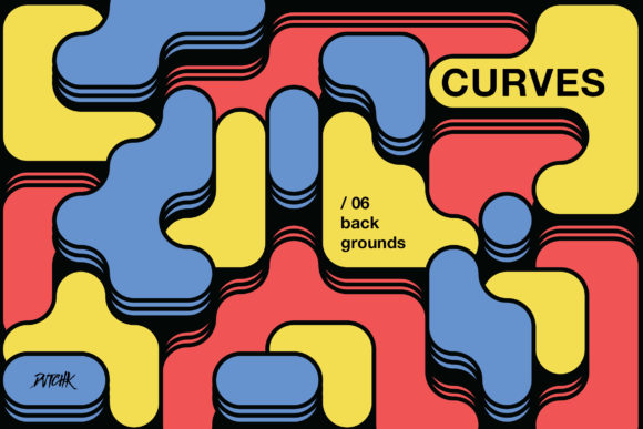 Curves | Rounded Colorful Blocks Backgrounds Graphic By dvtchk