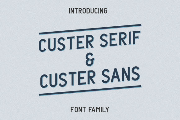 Print on Demand: Custer Family Sans Serif Font By Adriansyah