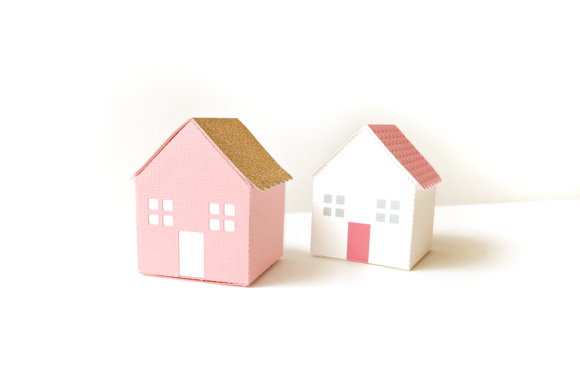 Cute House Box Graphic 3D Houses By RisaRocksIt