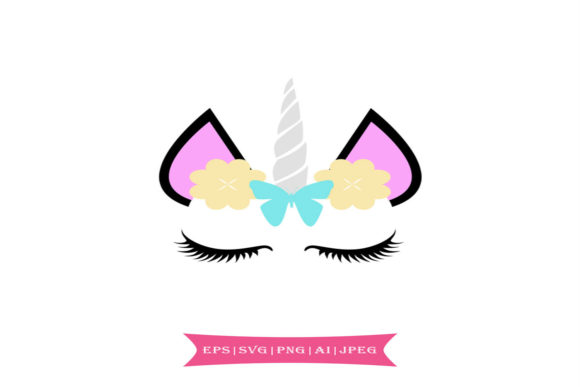 Cute Unicorn Graphic Illustrations By summersSVG - Image 1