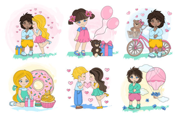 Print on Demand: Cute Valentine Illustration Set Graphic Illustrations By FARAWAYKINGDOM - Image 3