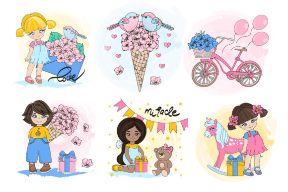 Print on Demand: Cute Valentine Illustration Set Graphic Illustrations By FARAWAYKINGDOM - Image 4