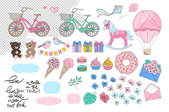 Print on Demand: Cute Valentine Illustration Set Graphic Illustrations By FARAWAYKINGDOM - Image 10