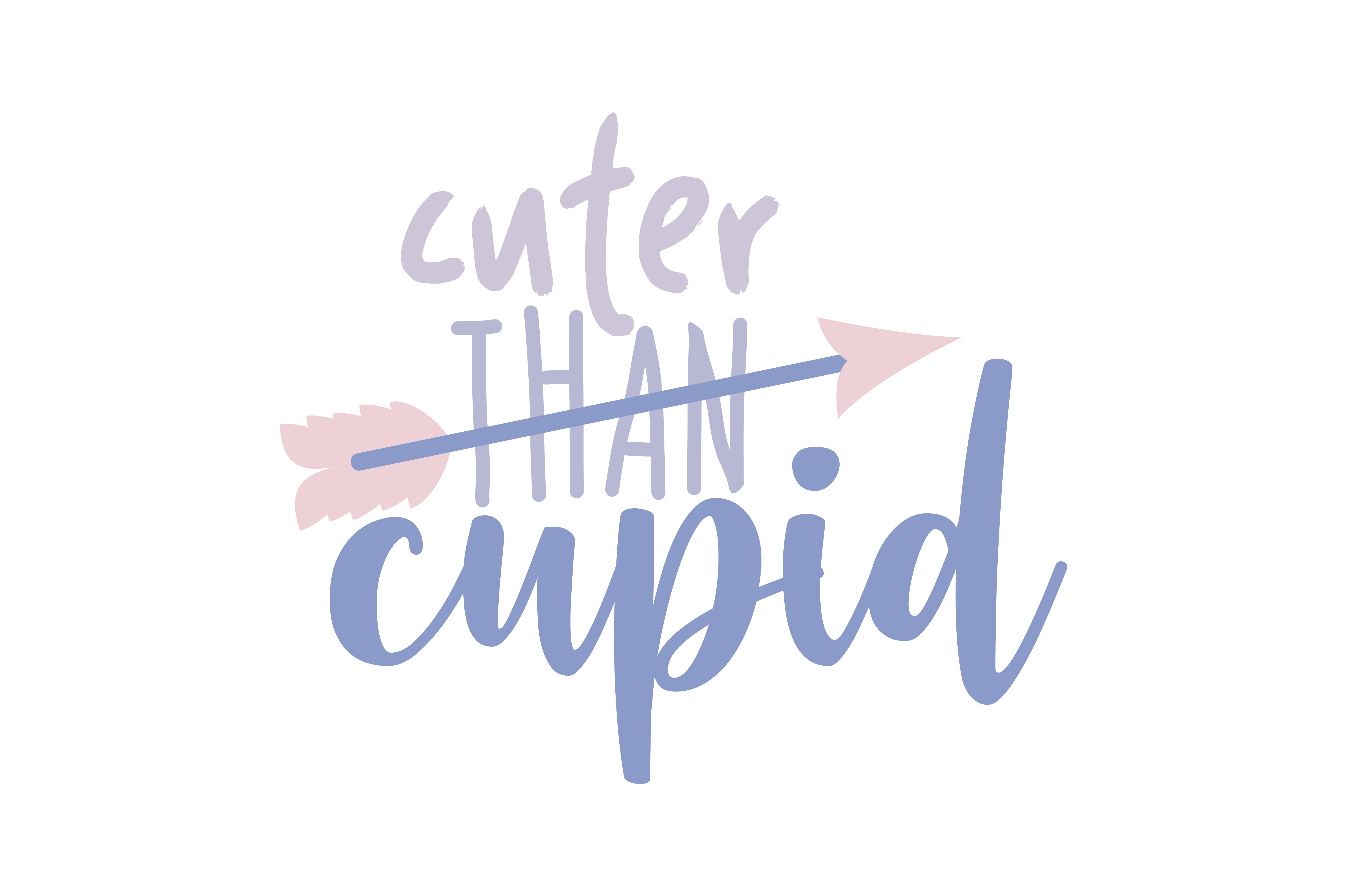 Download Free Cuter Than Cupid Quote Svg Cut Graphic By Thelucky Creative for Cricut Explore, Silhouette and other cutting machines.