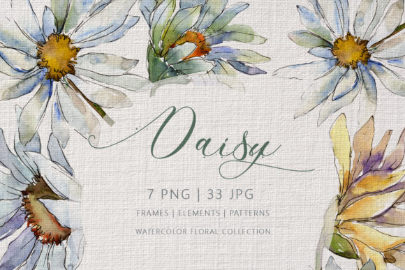 Print on Demand: Daisy Watercolor Graphic Illustrations By MyStocks
