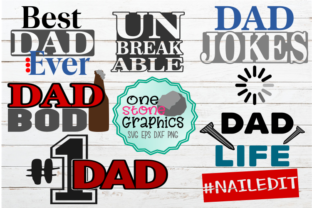 Dad Bundle Graphic Crafts By OneStoneGraphics