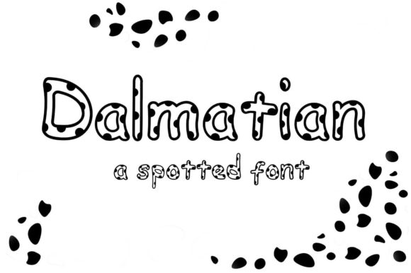 Print on Demand: Dalmatian Decorative Font By CheeseToastDigitals