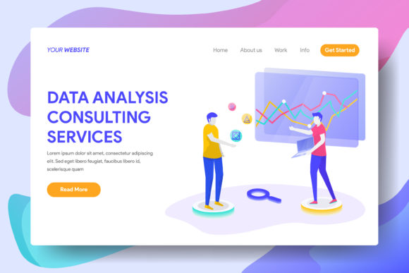Data Analysis Consulting Services Graphic Landing Page Templates By Twiri