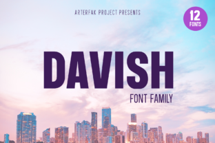 Print on Demand: Davish Family Sans Serif Font By Arterfak Project