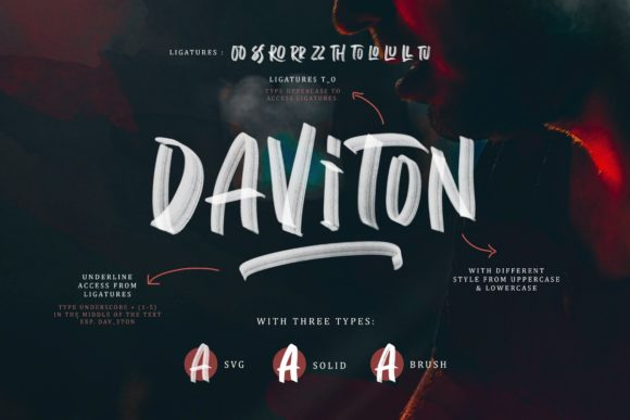 Print on Demand: Daviton Display Font By saridezra - Image 1