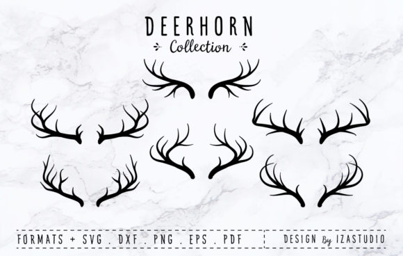 Download Free Deer Horn Collection Graphic By Izacuite Creative Fabrica for Cricut Explore, Silhouette and other cutting machines.