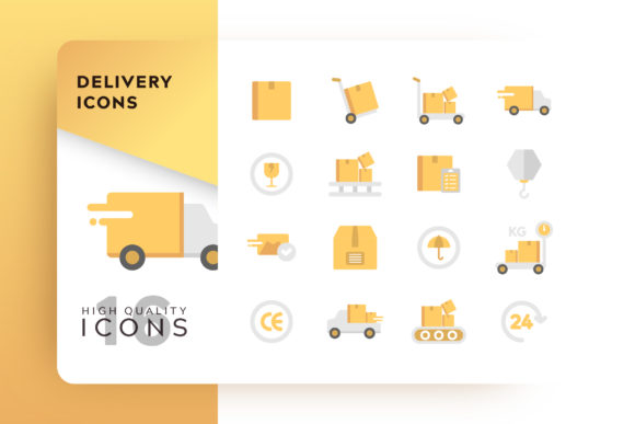 Delivery Icon Pack Graphic Free Download