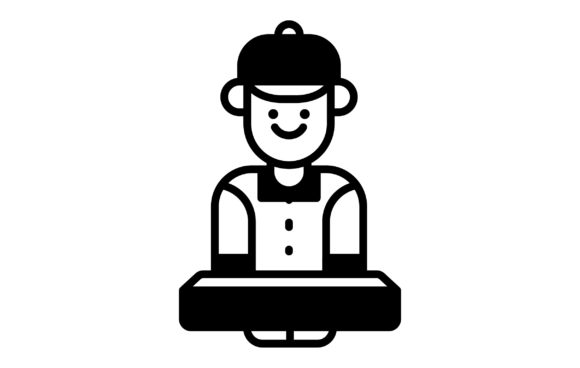 Download Free Delivery Man Icon Graphic By Matfine Creative Fabrica for Cricut Explore, Silhouette and other cutting machines.