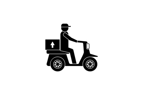 Download Free Delivery Shipping Monochrome Icon Vector Graphic By Hoeda80 for Cricut Explore, Silhouette and other cutting machines.
