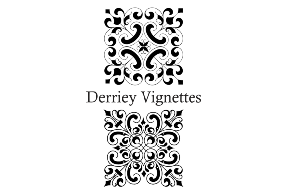 Print on Demand: Derriey Vignettes Family Dingbats Fuente Por Intellecta Design