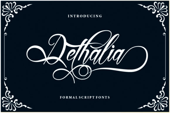 Print on Demand: Dethalia Script & Handwritten Font By sapre.studio