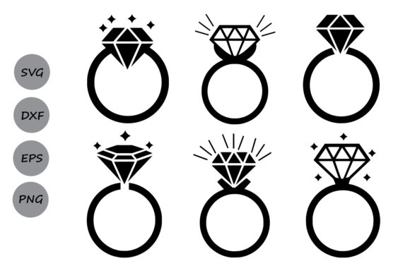 Download Free Diamond Ring Monogram Svg Graphic By Cosmosfineart Creative for Cricut Explore, Silhouette and other cutting machines.