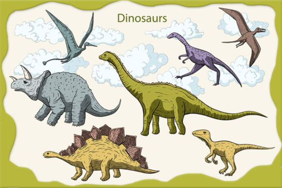 Dino Land Big Graphic Set Graphic By Red Ink Image 5