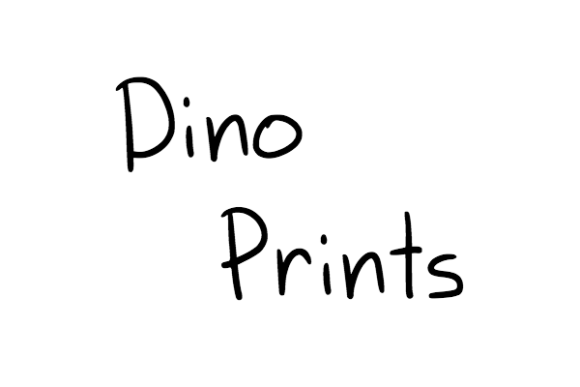 Print on Demand: Dino Prints Decorative Font By Marlee Pagels