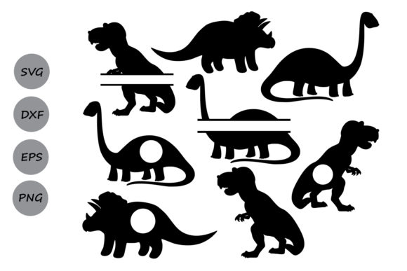 Download Free Dinosaur Monogram Svg Graphic By Cosmosfineart Creative Fabrica for Cricut Explore, Silhouette and other cutting machines.