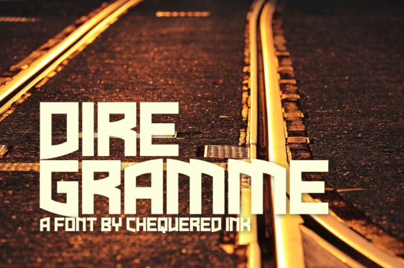 Dire Gramme Display Font By Chequered Ink
