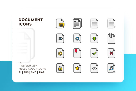 Document Icon Pack Graphic By Goodware.Std Image 1