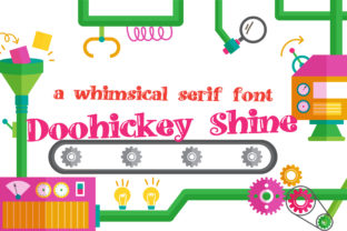 Print on Demand: Doohickey Shine Serif Font By Illustration Ink