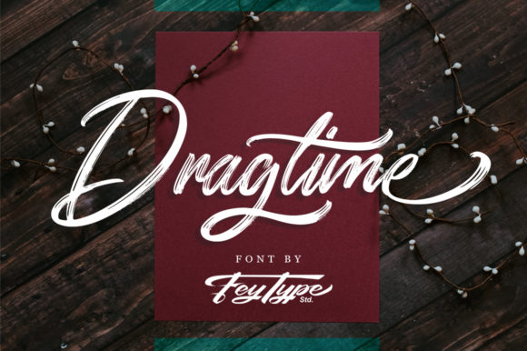 Print on Demand: Dragtime Script & Handwritten Font By feydesign