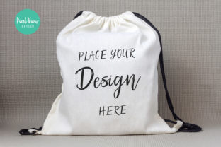 Drawstring Canvas Backpack Mockup Graphic By Pixel View Design