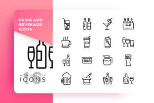 Drink and Beverage Icon Pack Graphic By Goodware.Std