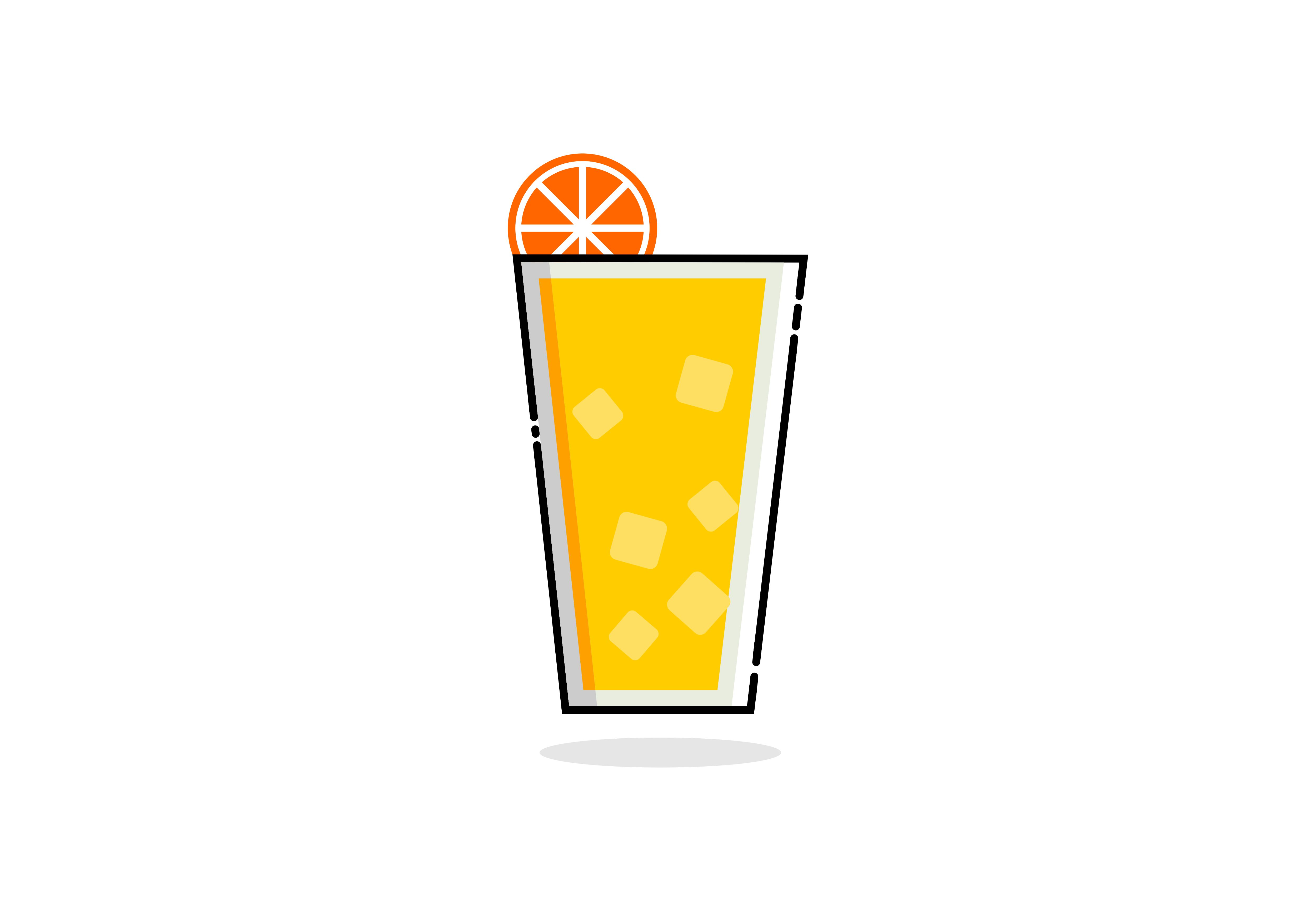Download Free Drink Orange Juice Mbe Style Logo Vector Graphic By Deemka Studio Creative Fabrica for Cricut Explore, Silhouette and other cutting machines.