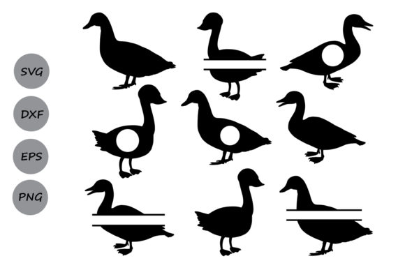 Download Free Duck Monogram Graphic By Cosmosfineart Creative Fabrica for Cricut Explore, Silhouette and other cutting machines.