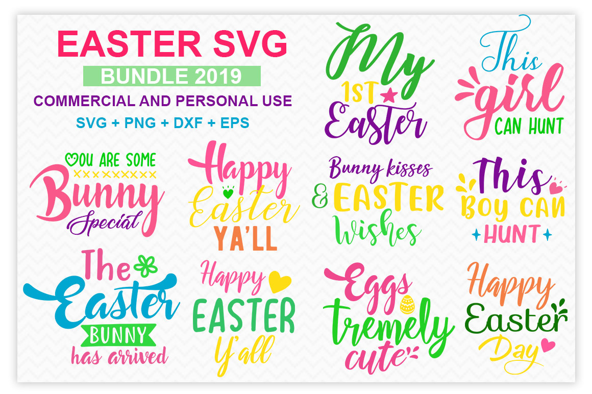 Download Free Easter 2019 Bundle Graphic By Designfarm Creative Fabrica for Cricut Explore, Silhouette and other cutting machines.