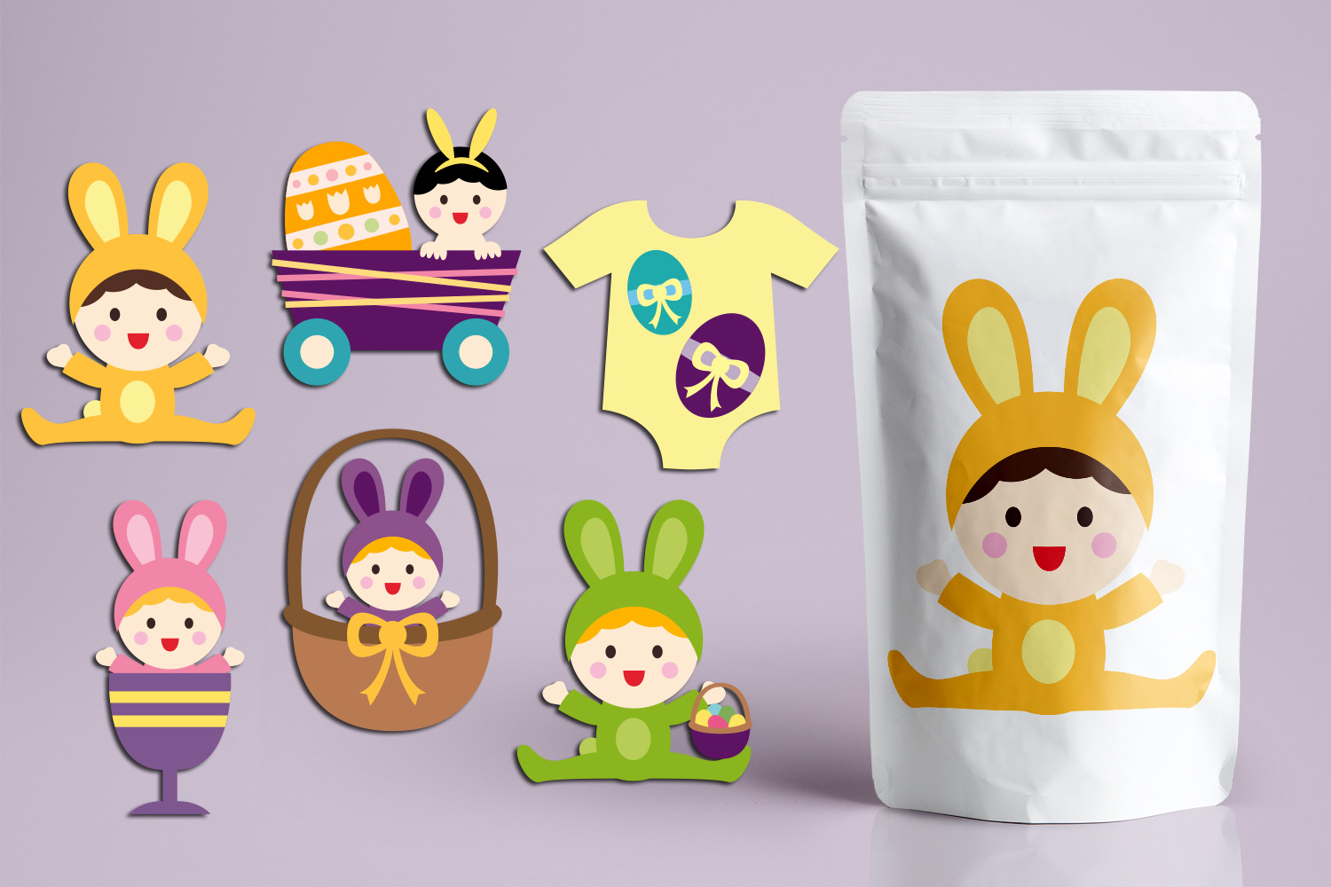 Download Free Easter Baby Graphic By Revidevi Creative Fabrica for Cricut Explore, Silhouette and other cutting machines.