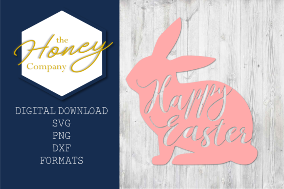 Easter Bunny SVG Graphic Crafts By The Honey Company